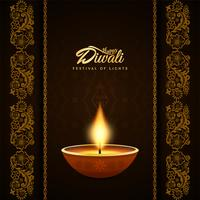 Abstract religious Happy Diwali decorative background