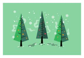 Mid Century Christmas tree Vector
