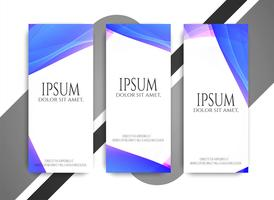 Abstract modern wavy banners set