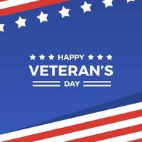 Flat Happy Veteran's Day Vector Illustration