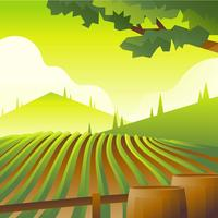 Vineyard Scenery First Person Vector