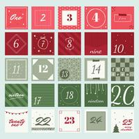 Advent Calendar Printable Vector