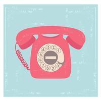 Rotary Telephone Vector