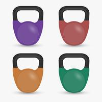 Realistic Fitness Equipment Gym Kettlebell Isolated Vector Illustratio