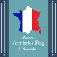 Vector del día del armisticio francés