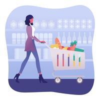 Vector de compras de comestibles