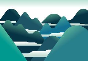 Mountain Landscape First Person Vector Illustration