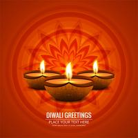 Beautiful greeting card for festival of diwali celebration
