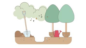 Afforestation Vector
