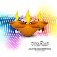 Happy diwali diya oil lamp festival background illustration