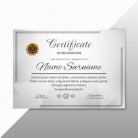 Modelo de certificado Premium prêmios diploma background vector