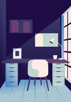 Design de vetor de espaço de trabalho acolhedor