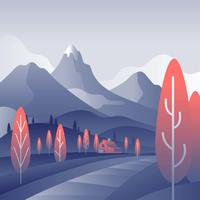 Mountain Landscape First Person Vector