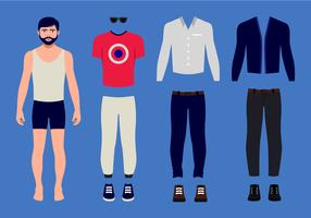 Vintage Man Paper Doll vector