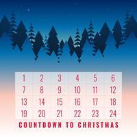 Advent Christmas Calendar Printable Greeting Card Set