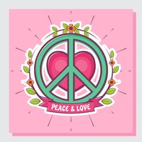 Peace and Love Vector Illustration