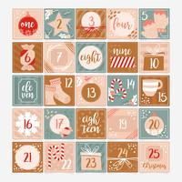 Vector Advent Calendar Template
