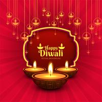 Happy diwali diya oil lamp festival card background