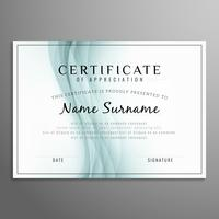 Abstract modern certificate design template