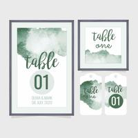 Vector Wedding Table Number Template