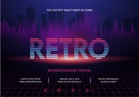 Retro Party und Versammlung Poster Vorlage