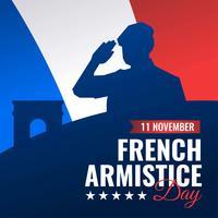 Franska Armistice Day Vector Banner