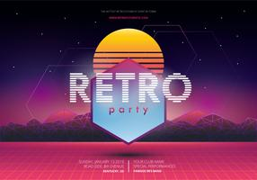 Modello di poster Retro Party and Gathering