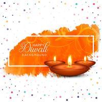 Beautiful Happy diwali diya oil lamp festival background