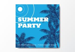 Summer Beach Party Night vector