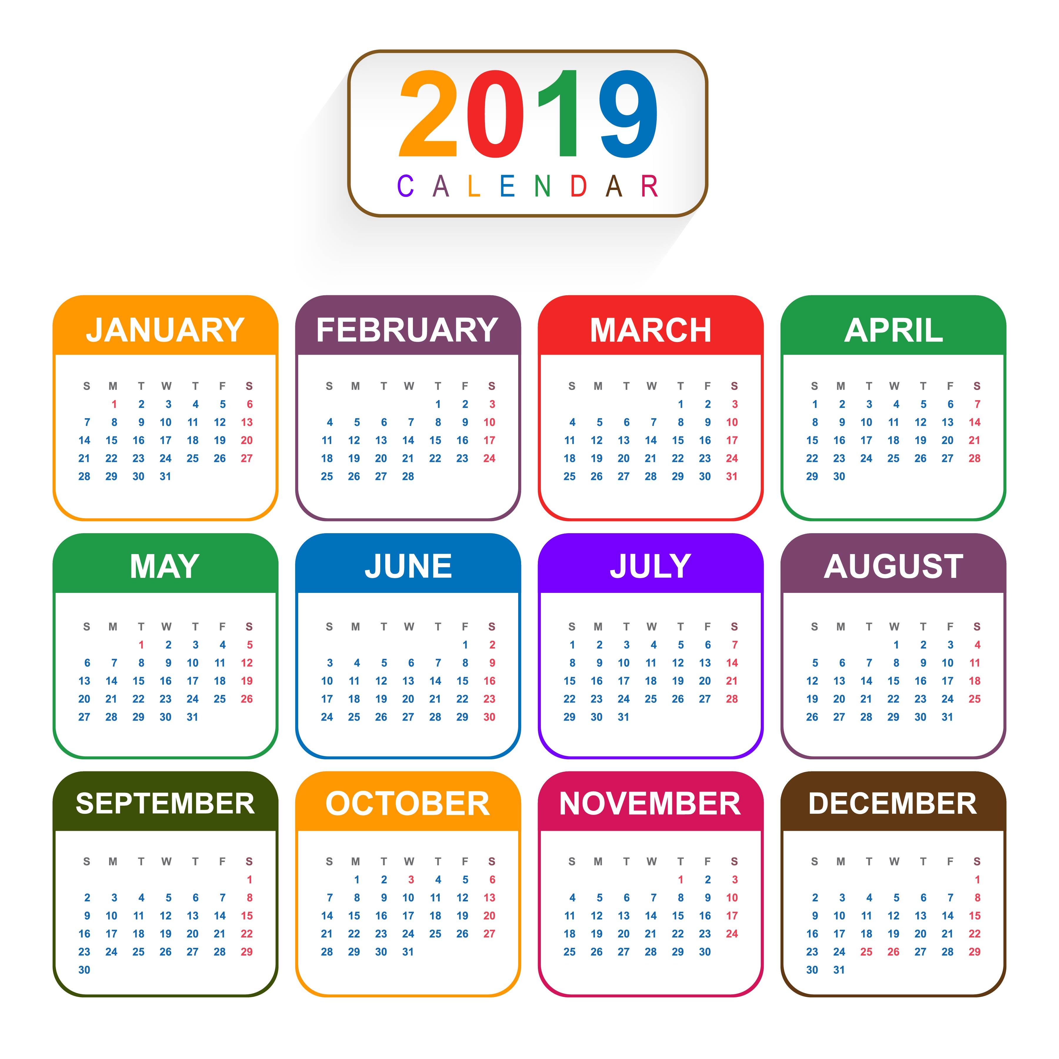 Calendario 2019 Para Imprimir.Beaches Calendario 2019 Ano Todo Para Imprimir