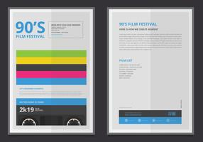 Retro Party and Gathering Poster Template