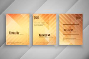 Abstract geometric business brochure set