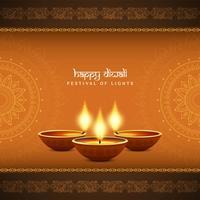 Abstract stylish religious Happy Diwali background