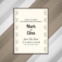 Conception de cartes d'invitation de mariage élégant abstrait