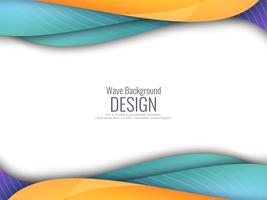 Abstract colorful wavy modern background vector