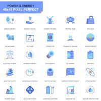 Set semplice di icone piatte per l'industria energetica e l'energia per applicazioni web e mobili