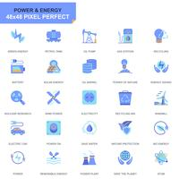 Sencillo conjunto de iconos de la industria de energía y energía para sitios web y aplicaciones móviles