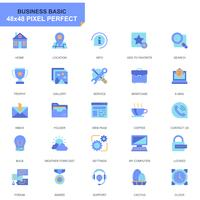Ensemble simple Basic Flat Icons pour site Web et applications mobiles