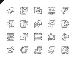 Simple Set Message Line Icons for Website and Mobile Apps.