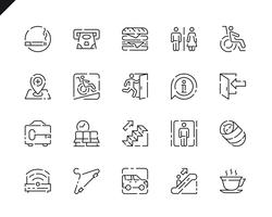 Simple Set Public Navigation Line Icons for Website and Mobile Apps.