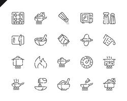Simple Set Cooking Line Icons voor website en mobiele apps.