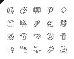 Simple Set Soccer Line Icons for Website and Mobile Apps.