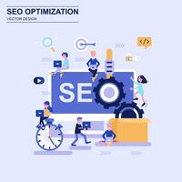Seo optimization flat design concept