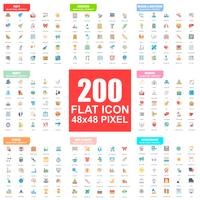 Simple set of vector flat icons. Flat pictogram pack. 48x48 Pixel Perfect.