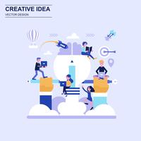 Creative idea flat design concept