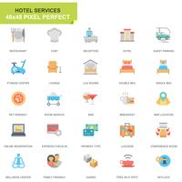 Simple Set Hotel Services Flat Icons pour sites Web et applications mobiles