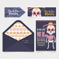 Vector Day of the Dead Party Invitation