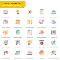 Simple Set Business and Marketing Flat Icons for Website and Mobile Apps