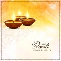 Abstrakt elegant Glad Diwali religiös bakgrund