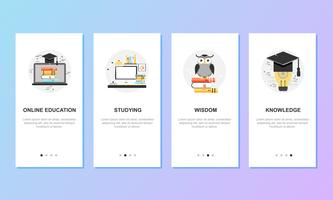 Onboarding screens for mobile app templates concept